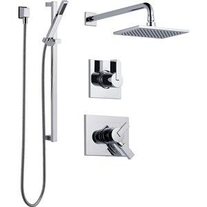 Système de douche à double fonction Vero de DELTA, chrome