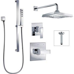 Système de douche Ara Série 14 de DELTA, chrome
