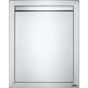 Porte simple réversible pour cabinet de cuisine extérieure de Napoleon, 18 po x 24 po, acier inoxydable