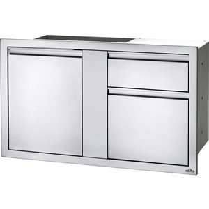 Napoleon Outdoor Kitchen Cabinet - 1-Door and 1-Drawer - 45.25-in x 27.75-in - Stainless Steel