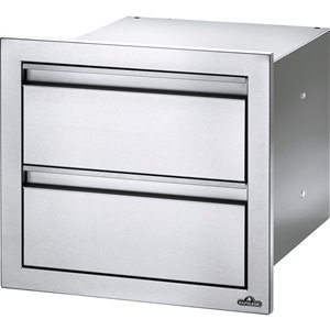 Napoleon Double Drawer for Outdoor Kitchen Cabinet - 18-in x 16-in - Stainless Steel