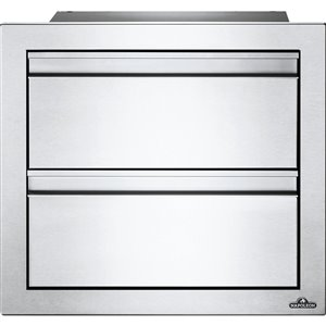 Tiroir double pour cabinet de cuisine extérieure de Napoleon, 18 po x 16 po, acier inoxydable