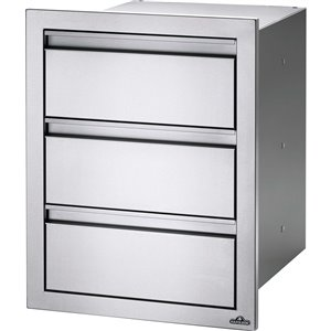 Napoleon Outdoor Kicthen Cabinet - Triple Drawer - 18-in x 24-in - Stainless Steel