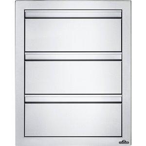Cabinet pour cuisine extérieure de Napoleon, tiroir triple, 18 po x 24 po, acier inoxydable