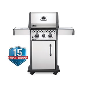 Napoleon Rogue XT 365 Natural Gas Grill with-infrared Side Burner - 41,000 BTU - Stainless Steel