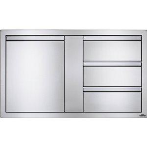 Cabinet pour cuisine extérieure de Napoleon, 3 tiroirs et 1 porte, 42 po x 24 po