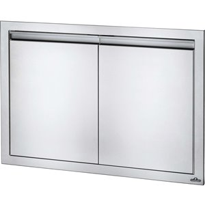 Napoleon Large Double Door for Outdoor Kitchen Cabinet - 36-in x 24-in - Stainless Steel