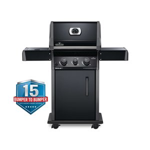 Napoleon Rogue XT 365 Propane Gas Grill with-infrared Side Burner - 41,000 BTU - Black