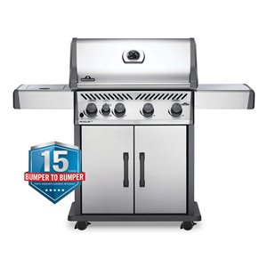 Napoleon Rogue XT 525 Natural Gas Grill with-infrared Side Burner - 57, 000 BTU - Stainless Steel