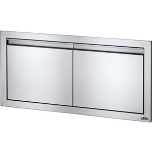 Napoleon Small Double Door for Outdoor Kitchen Cabinet - 36-in x 16-in - Stainless Steel
