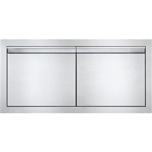 Porte double pour cabinet de cuisine extérieure de Napoleon, 36 po x 16 po, acier inoxydable
