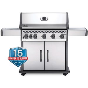 Napoleon Rogue XT 625 Natural Gas Grill - 69,000 BTU - Stainless Steel