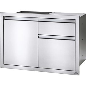 Napoleon Outdoor Kicthen Cabinet - 1-Door with Waste Bin Drawer - 36-in x 24-in - Stainless Steel
