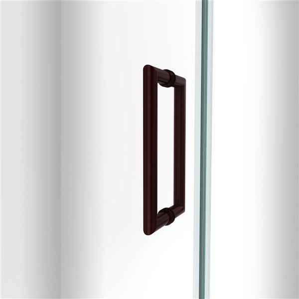 Porte de douche Unidoor-LS de DreamLine, 56 po, bronze huilé