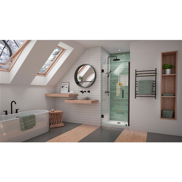 DreamLine Unidoor-LS Shower Door - 31-in - Oil Rubbed Bronze