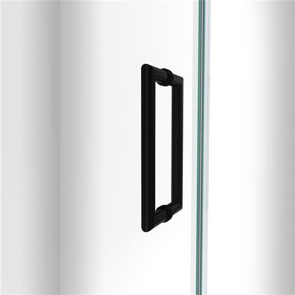 Porte de douche Unidoor-LS de DreamLine, 54 po x 72 po, noir satiné