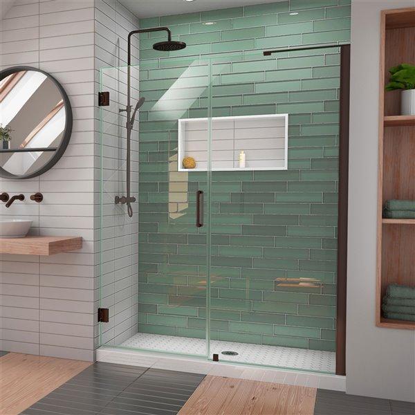 DreamLine Unidoor-LS Shower Door - 59-in - Oil Rubbed Bronze