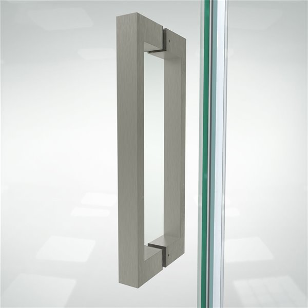 DreamLine Elegance Plus Shower Door - 51.75-in - Brushed Nickel
