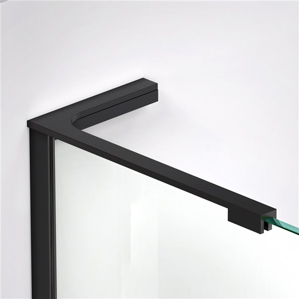 DreamLine L-Bar Support Bracket - Left Wall - 18-in - Satin Black