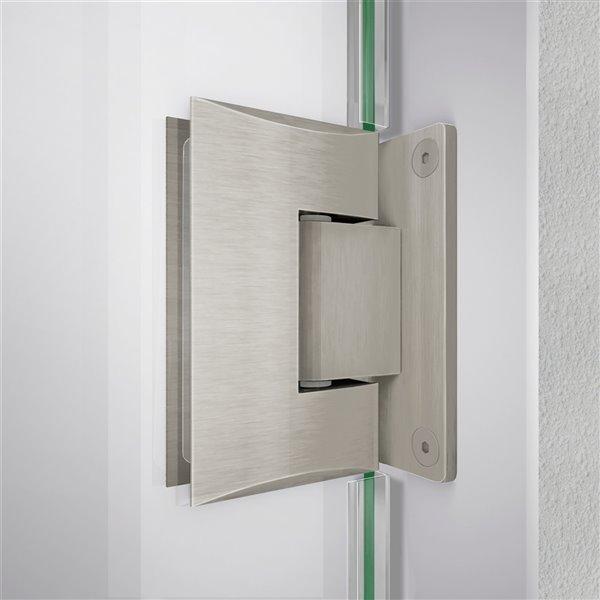 DreamLine Unidoor-LS Shower Door - 33-in - Brushed Nickel
