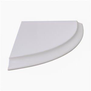 Tablette d'angle Valley pour salle de bain, fini blanc mat, 9 po x 9 po