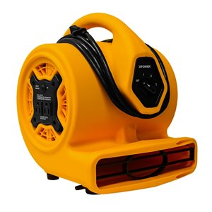 XPOWER P-130A Mighty Mini Air Mover with Daisy Chain - 1/5 HP - 115 V