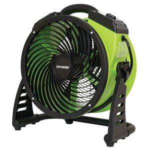 XPOWER FC-200 Multipurpose Pro Air Circulator Utility Fan - 13-in - Green