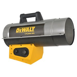 DeWALT Forced Air Propane Heater - 170,000 BTU - 4250 sq ft