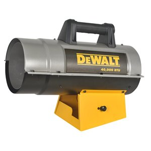 DeWALT Forced Air Propane Heater - 40,000 BTU - 1000 sq ft