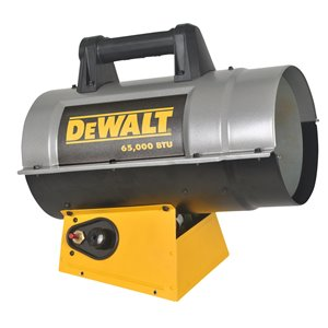 DeWALT Forced Air Propane Heater - 65,000 BTU - 1625 sq ft