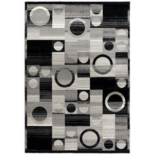 Tapis de passage moderne Montage de Rug Branch, rectangulaire, 2 pi 3 po x 8 pi, gris