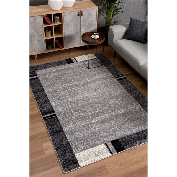 Rug Branch Nova Modern Runner Area Rug - Rectangular - 2-ft 2-in x 8-ft - Gray
