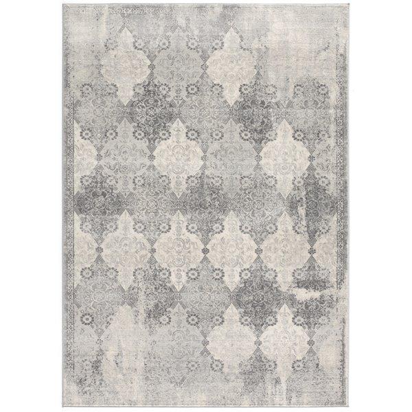 Tapis moderne Havana de Rug Branch, rectangulaire, 7 pi 9 po x 10 pi 8 po, gris