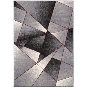 Tapis moderne Nova de Rug Branch, rectangulaire, 5 pi 3 po x 7 pi 5 po, gris