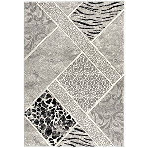 Rug Branch Montage Modern Area Rug - Rectangular - 5-ft 3-in x 7-ft 7-in - Gray