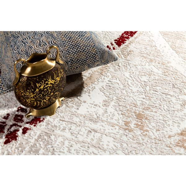 Rug Branch Cascade Modern Area Rug - Rectangular - 7-ft 9-in x 10-ft 9-in - Red