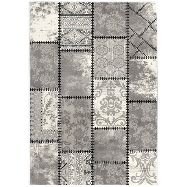 Rug Branch Montage Modern Runner Area Rug - Rectangular - 2-ft 3-in x 13-ft - Gray