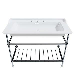 Cheviot Valarte Console Bathroom Sink - Fire Clay - 20.87-in x 31.25-in - White