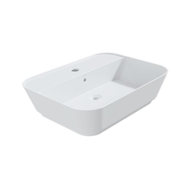 Cheviot Element 2 Vessel Bathroom Sink - Fire Clay - 16.75-in x 23.37-in - White