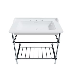 Cheviot Valarte Console Bathroom Sink - 20.87-in x 25.62-in - White