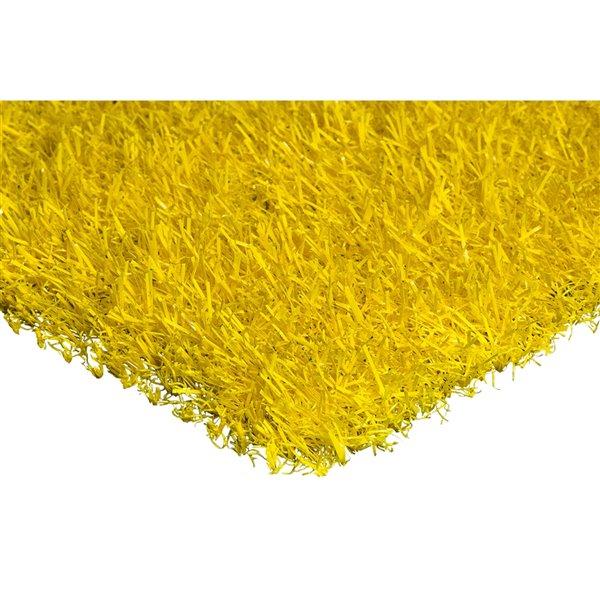 Gazon synthétique de couleur de Trylawnturf, 15 pi x 12 pi, jaune