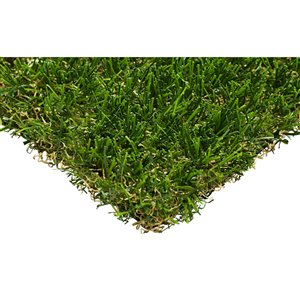 Trylawnturf Oasis Gold Synthetic Landscaping Turf - 15-ft x 6.6-ft - Green/Brown