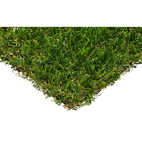 Trylawnturf Oasis Gold Synthetic Landscaping Artificial Grass - 10-ft x 6.6-ft - Green/Brown