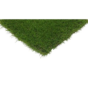 Trylawnturf Eclipse Synthetic Landscaping Artificial Grass - 20-ft x 12-ft - Green