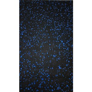 RubberMax Roll - 600-in x 48-in - 200 sq ft - Black, flecked blue