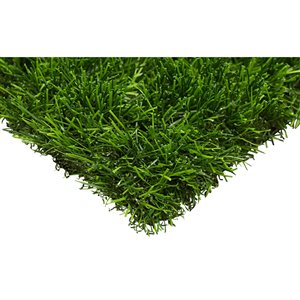 Trylawnturf Oasis Green Synthetic Landscaping Turf - 25-ft x 6.6-ft - Green