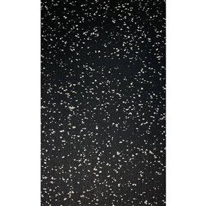 Revêtement de sol en caoutchouc RubberMax, 600 po x 48 po, 200 pi², noir tacheté gris