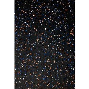 Revêtement de sol en caoutchouc RubberMax, 600 po x 48 po, 200 pi², noir tacheté multi
