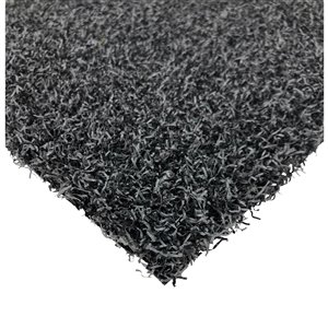 Trylawnturf Diamond Artificial Grass - 10-ft x 12-ft - Charcoal