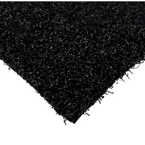 Gazon synthétique Diamond de Trylawnturf, 20 pi x 12 pi, noir